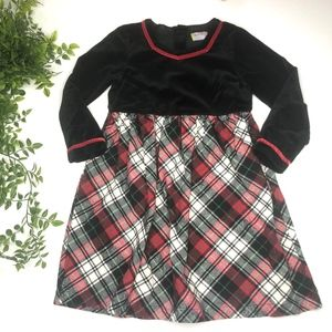 Hanna Andersson Holiday Plaid Velvet Dress 5/110